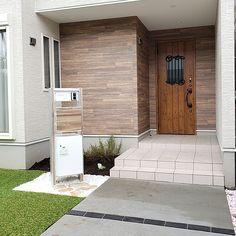 Western Homes, Garage Doors, Outdoor Decor, Modern, House, Gardens, Home Decor, Stone Walls, Wall Cladding