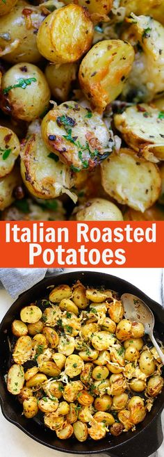 Italian Roasted Potatoes – buttery, cheesy oven-roasted potatoes ...