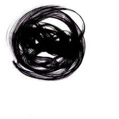 "Acrylic Abstract Painting Minimalist Art Print - ""Ink Swirls"""