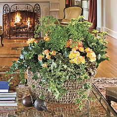 Enjoy the Look Even Longer - Plant a Seasonal Southern Basket - Southern Living Inside Garden, Home And Garden, Basket Decoration, Southern Living, Decorative Baskets, Seasons, Simple, Holiday, Plants