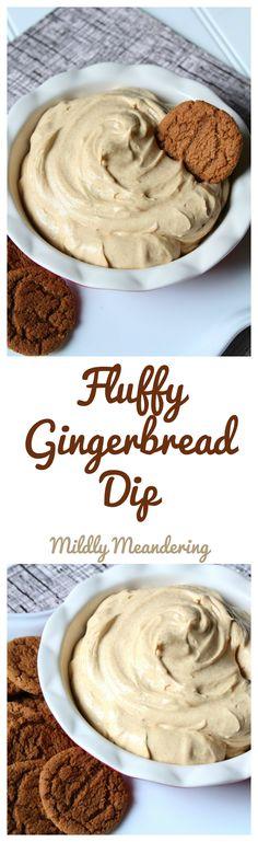 Fluffy Gingerbread Dip - Mildly Meandering