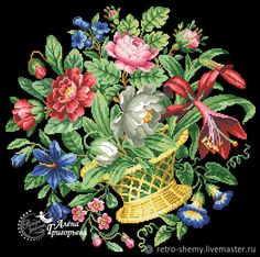 Cross Stitch Rose, Cross Stitch Embroidery, Cross Stitch Patterns, Crochet Projects, Sewing Projects, Flower Canvas, Canvas Designs, Needlepoint, Sewing Crafts