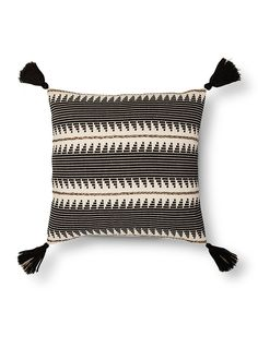 Add a big impact of style with the Braided Throw Pillow in Black from Threshold. This striped throw pillow has vivid designs with accenting tassels in the corners. Living Room Pillows, Boho Living Room, Living Rooms, Linen Pillows, Decorative Pillows, Throw Pillows, Modern Cushions, Global Decor, Multipurpose Room