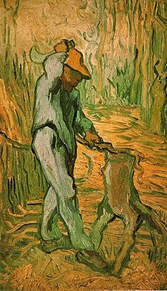 Woodcutter, The (After Millet) ~ Painting, Oil on Canvas Saint-Rémy: February, 1890 Van Gogh Museum Amsterdam, The Netherlands, Europe F: 670, JH: 1886