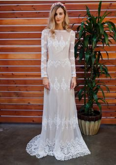 ce3f2a9e64e Dreamers and Lovers Lisa gown Romantic Bohemian Wedding Dresses