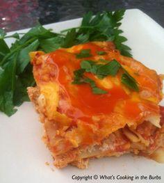Crock Pot Buffalo Chicken Lasagna