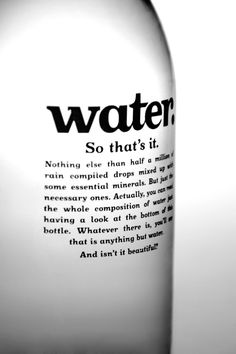 University project consisted on creating a new brand, concept & design.So I created Water.As simple as it sounds, Water. sells its product just the way it is, leaving aside the complications.Simple product, simple brand, simple design.