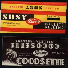 omigoodness!!  I grew up on these!!  I ate the Susy bars...and MK ate Cocosettes at the movies...