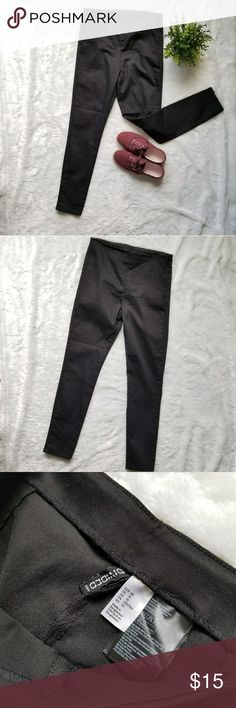 H&M Black Skinny High-Waisted Pants!! Super cute, never worn, black high-waisted skinny pants by H&M. Cotton, polyester and spandex. They do stretch. Comes from a smoke-free pet-free home. Fast shipping. NO TRADES! H&M Pants Skinny