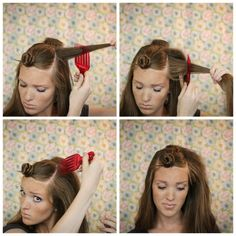 Teasing 101 for Quick and Easy Volume.  This is great for updos and also how to brush it out after without damaging your hair!