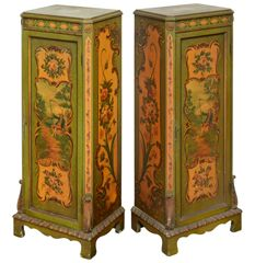 Hand Painted Pedestrals or Cabinets