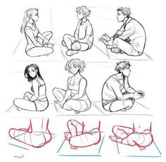 Drawing People Sitting Pose Reference 67 Trendy Ideas - Amina Drawing Drawing People Sitting Pose Re Sitting Pose Reference, Art Reference Poses, Leg Reference, Anatomy Reference, Injured Pose Reference, Character Design Cartoon, Character Design References, Art Poses, Drawing Tips