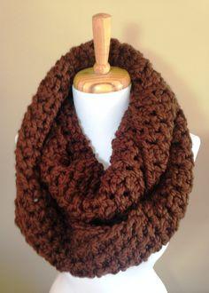 Oversize chunky infinity scarf by BallAndHook on Etsy
