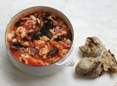 Cioppino recipes are numerous, but this one certainly looks and sounds great! From Bon Appetit magazine.