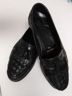5bfbee2d5ed30 Giorgio Brutini Mens 11D Shoes Loafers Black Leather Up Rubber Soles  Tassels #fashion #clothing