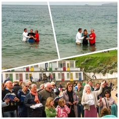 Baptism on Porthgwidden beach, St Ives, Cornwall. Easter Day 2015.