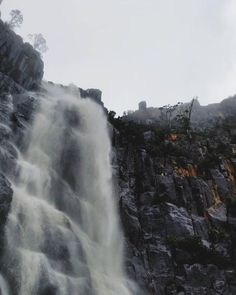 pelverata Falls covered in cloud. You can find these waterfalls south of Hobart in the Snug Tiers.   Image sent in by Justin Cage on IG: https://instagram.com/p/BBgRfWTrzQx/