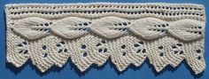 1884 Knitted Lace Sample Book: 38. Untitled Edging