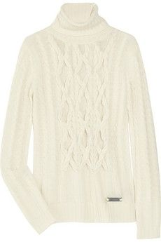 Burberry London|Wool and cashmere-blend cable-knit sweater|NET-A-PORTER.COM - StyleSays Beautiful Gifts, Cable Knit Sweaters, Knits, Must Haves, First Love, Burberry, Fashion Inspiration, Cashmere, London