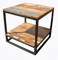 Couchtisch Reclaimed Cube Bei Fabrikschick.de   Coffee Table Reclaimed Wood  And Iron