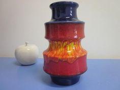 SCHEURICH pop art ceramic vase  WGP German design lava 70s   | eBay