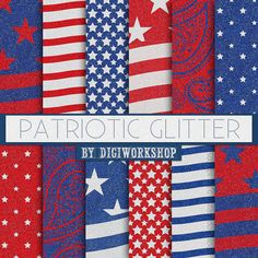 "#Patriotic #Glitter Digital Paper: 4th of July Patterns or Patriotic Digital Backgrounds - ""Patriotic Glitter"" in red and blue colors with glitter textures  12 glitter digita... #etsy #digiworkshop #scrapbooking #illustration #creative #clipart #printables #crafting #glitter #texture #patriotic  Stop by my Etsy Shop: www.etsy.com/shop/TeoldDesign"