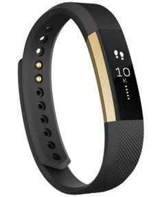 Fitbit Alta Black/Gold Activity Tracker | macys.com