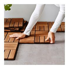 IKEA - RUNNEN, Floor decking, outdoor, Floor decking makes it easy to refresh your terrace or balcony.The floor decking can be cut if you need to fit it around a Small Balcony Decor, Balcony Design, Deck Design, Balcony Ideas, Backyard Ideas, Patio Ideas, Tiny Garden Ideas, Modern Balcony, Tiny Balcony