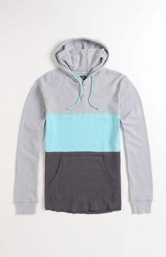 Volcom Block Henley Hooded Thermal Shirt