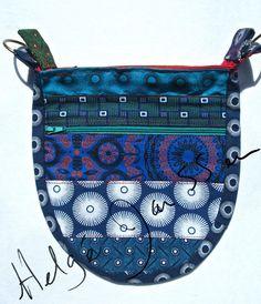 individually crafted Da Gama shweshwe sling bag. Indigo Prints, Fabric Wallet, Sling Bags, Indigo Dye, Saddle Bags, Bag Accessories, Wallets, Cotton Fabric, Coin Purse