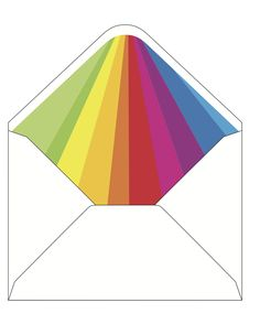 CocoCards: The luxurious touch - hand lined envelopes - rainbow invite