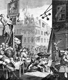 Exhibition of prints by English artist William Hogarth opens at the Städel Museum - Alain. William Hogarth, Canvas Art, Canvas Prints, Framed Prints, Frankenstein, Städel Museum, City Museum, Museum Shop, Beer Poster