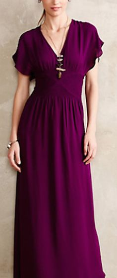 lovely rich purple maxi dress #anthrofave http://rstyle.me/n/r4meer9te