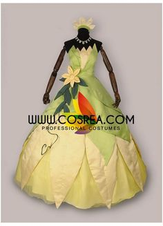 Costume DetailPrincess And The Frog Tiana Cosplay CostumeIncludes - Dress, Headband, Floral Pin, Petticoat Please see individual tabs for information including: -available...
