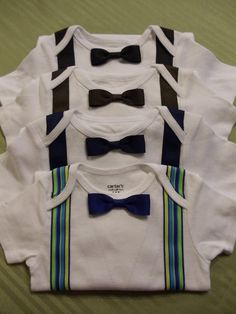 Boy Onesie w/ Bow Tie and Suspenders--how cute is this?!