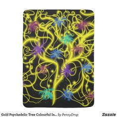 Gold #Psychedelic #Tree #Colourful #Indie #Art #Design #ipadcover #giftideas