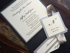 Square Pocket Wedding Invitations - Classic or Elegant Wedding, Gold and Burgundy with Crystals.