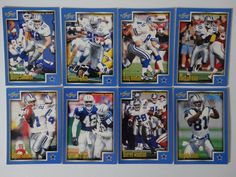 1999 Score Series 1 Dallas Cowboys Team Set of 8 Football Cards #DallasCowboys