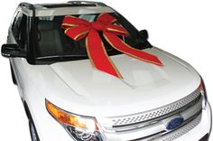 """Our 36"""" Velvet Windshield Car Bows are the most luxurious bow available - made with velvet ribbon and gold lame."""