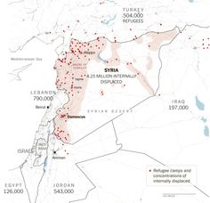 The Historic Scale of Syria's Refugee Crisis Refugee Crisis, Syrian Refugees, Another World, Data Visualization, Ny Times, Vulnerability, Middle East, Infographics, Storytelling