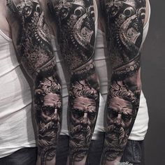 Tattoo competition page for Best Arm Sleeve Tattoos Best Black, Black And Grey, Small Tattoos, Cool Tattoos, Wicked Tattoos, Arm Sleeve Tattoos, Tattoo Inspiration, Tattoo Artists, Arms