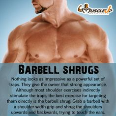 Barbell Shrugs for MASSIVE TRAPS! https://www.facebook.com/photo.php?fbid=658114357565689