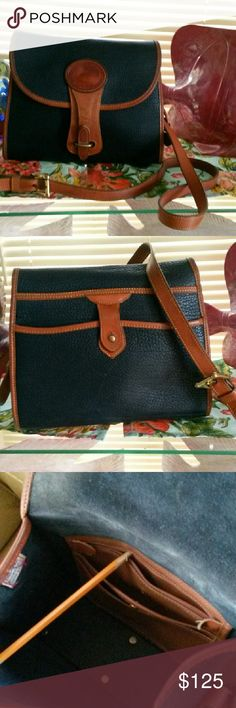 1980's ESSEX Sought after color Navy Blue! So Gorgeous I msy decide to keep this beauty if she isnt snatched up quickly!! Can't find any imperfections on her! She does have a little deeper patina on her piping but as you can see she's a BEAUTY!! Dooney & Bourke Bags Shoulder Bags