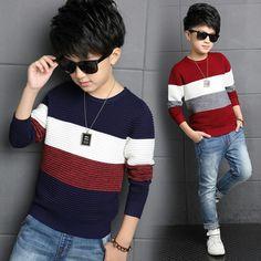 Baby Boy Knitting Patterns, Kids Dress Patterns, Stylish Dresses For Girls, Stylish Boys, Mens Fashion Sweaters, Sweater Fashion, Boys Sweaters, Casual Sweaters, Kids Brand