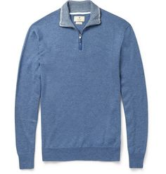 HackettCashmere and Cotton-Blend Sweater
