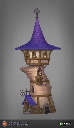 Siege. Mage tower by Gimaldinov on DeviantArt