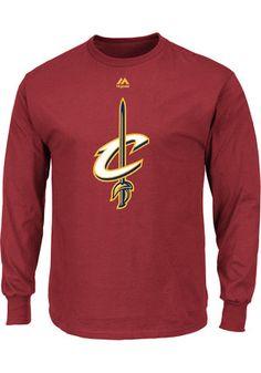 Majestic Cleveland Cavaliers Mens Maroon Logo Tee