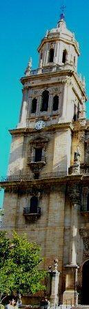 Torre del reloj de la catedral de Jaén. ESpaña Foto:C.Soler