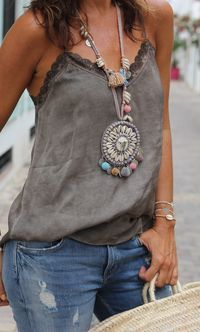 That necklace......Boho Style   Supernatural Style