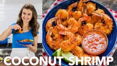 Coconut Shrimp are crisp on the outside with succulent juicy shrimp inside. Do not skip the 2 ingredient coconut shrimp sauce and squeeze of lime juice. Shrimp Salsa Recipe, Coconut Shrimp Sauce, Shrimp Dipping Sauce, Coconut Shrimp Recipes, Fish Recipes, Seafood Recipes, Creamy Coconut Shrimp, Breaded Shrimp, Fried Shrimp